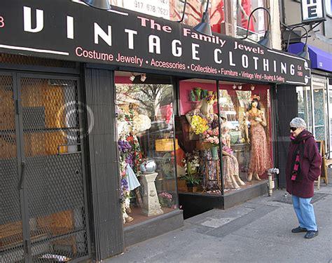 vintage clothing shop new york city usa