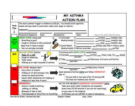 my asthma plan template asthma plan template 10 free word excel pdf