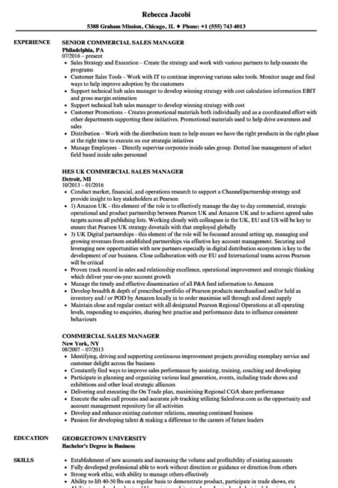 Commercial Project Manager Sle Resume by Commercial Sales Manager Resume Sles Velvet