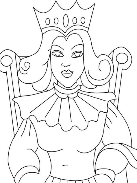 queen coloring pages printable queen coloring pages free printable queen coloring pages