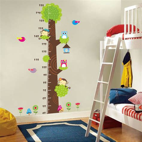 home design 3d wall height cartoon animals children kids growth height measure chart