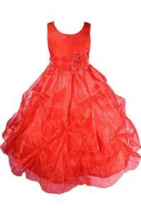 Amj dresses inc red flower girl christmas dress