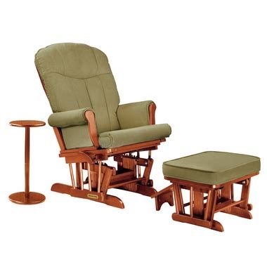 Shermag Sleigh Reclining Glider Ottoman And Side Table In Microfiber Glider Recliner With Ottoman
