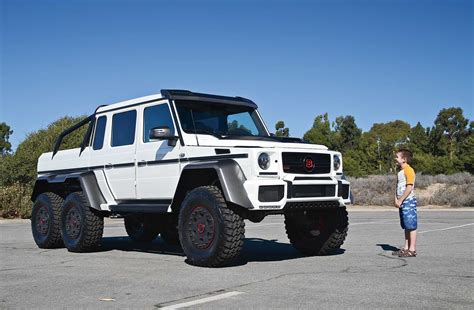 mercedes jeep 6 wheels driving the brabus g63 700 6x6