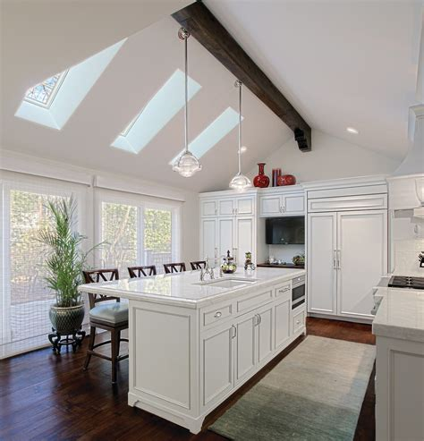 Kitchens With Cathedral Ceilings Pictures by Cathedral Ceilings Kitchen Traditional With Kitchen Island