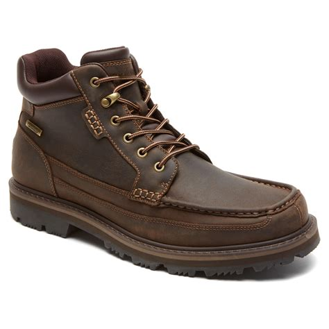 rockport boot for rockport gentle moc mid wp boot in brown for lyst