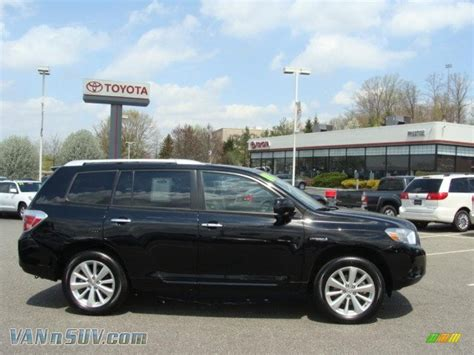 2008 Toyota Highlander Hybrid Limited 2008 Toyota Highlander Hybrid Limited 4wd In Black