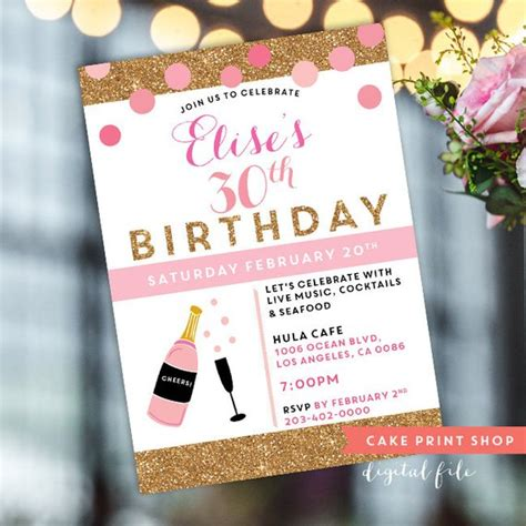 30th bday invitations 2 womens 30th birthday invite printable 30th birthday 40th