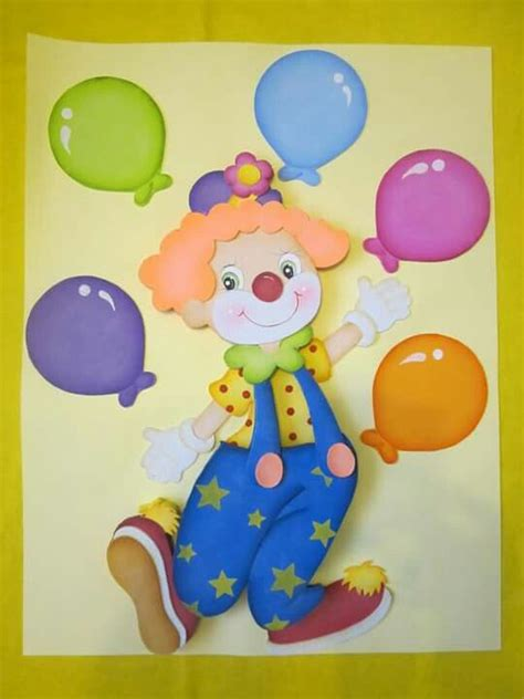 imagenes infantiles en foami caras de payasos en foami imagui