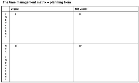time management quadrant template 5 a day update chris eyre on teaching
