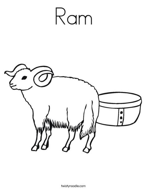 ram coloring page printable ram coloring page twisty noodle