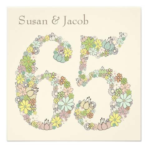 65th wedding anniversary invitations 65th wedding anniversary custom invitation zazzle
