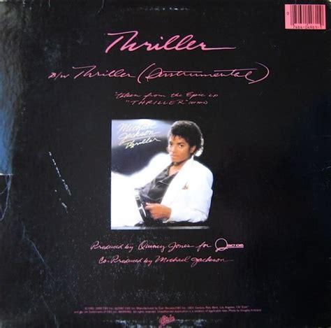michael jackson thriller 12 vinyl michael jackson thriller maxi single vinyl edition dj 80
