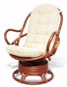 Java handmade design rattan wicker swivel rocking chair with thick