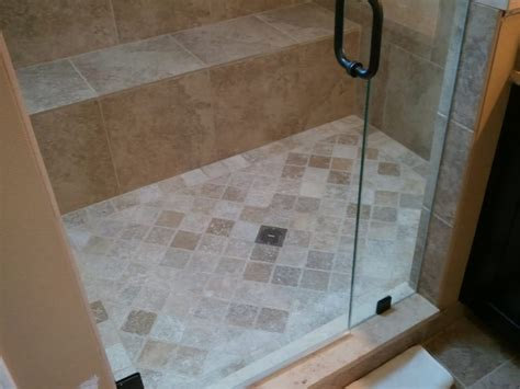 4x4 bathroom tile master bath remodel 3 8 heavy glass shower door 4x4