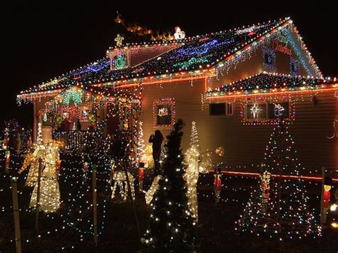 decorated christmas houses awesome outdoor christmas lights house decorating