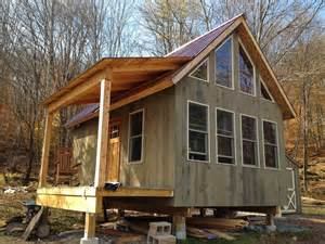 tiny cabin homes adam and karen s tiny off grid house