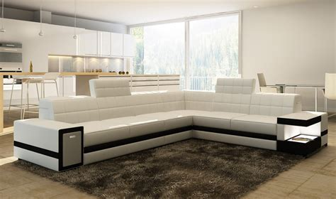 modern white bonded leather sectional sofa 6106 modern white bonded leather sectional sofa