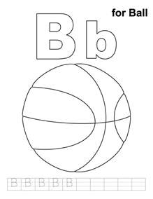 coloring pages for letter b b for coloring page with handwriting practice