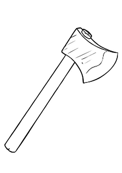 Hatchet Outline by Free Coloring Pages Of Hatchet