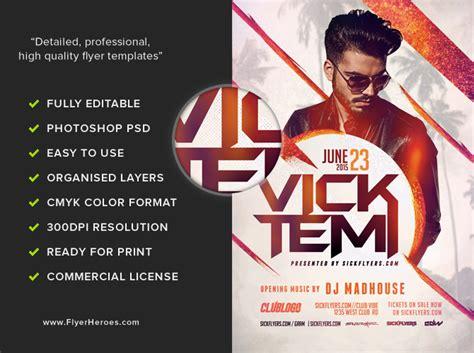 dj flyers templates premium dj flyer template flyerheroes