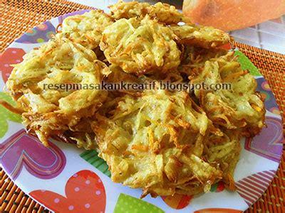 resep bakwan kentang sayur jamur tiram aneka resep