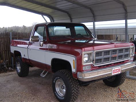 gmc and chevy the same 1978 gmc grande k15 4x4 bed same as