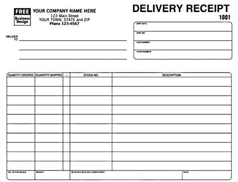 delivery receipt template pdf delivery receipt template in excel format excel project