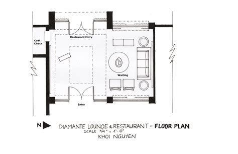 area of a floor plan diamante restaurant khoi kelvin n