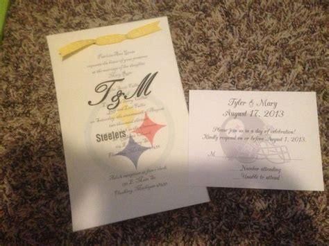 pittsburgh steelers wedding invitations