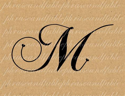tattoo font letter m letter m hearts 283 digital download alphabet initial name