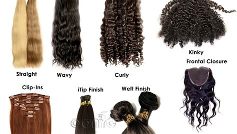 Different Types Of Hair Weaves by Hair Extensions Onyc World
