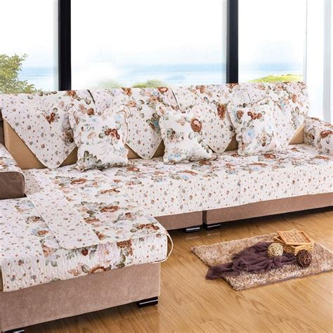 rose colored sofa new korean pastoral sofa cover towel couch cover sectional