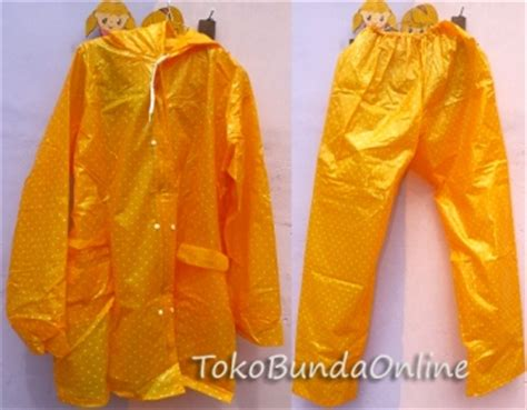 Elmondo Jas Hujan Polkadot Merah jas hujan anak karakter toko bunda
