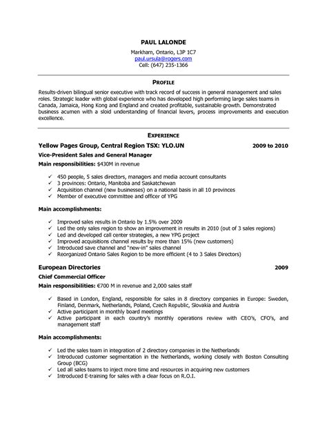 formidable international experience canada resume format with canadian sle resume sle