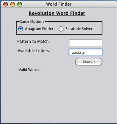 scrabble finder anagram revolution newsletter