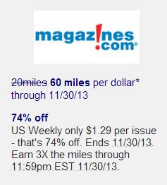 Buying Gift Cards To Earn Miles - earn 60 miles per dollar at magazines com via aadvantage eshopping portal frequent