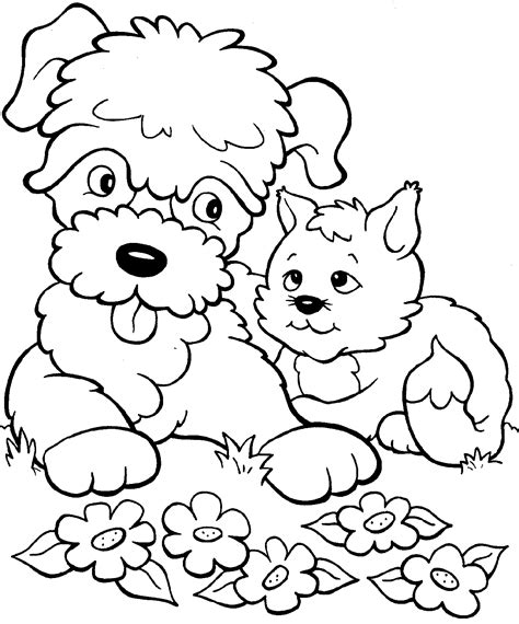 free coloring pages of puppies and kittens kittens and puppies free coloring pages on art coloring