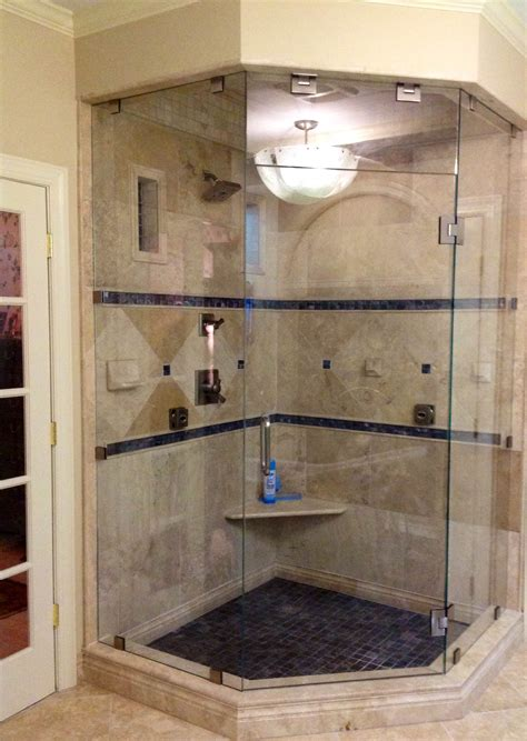 photos of tiled shower stalls photos gallery custom custom frameless neo angle steam shower enclosure mia