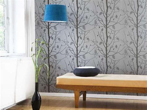 Design of your bedroom tree wallpaper designs for modern interior