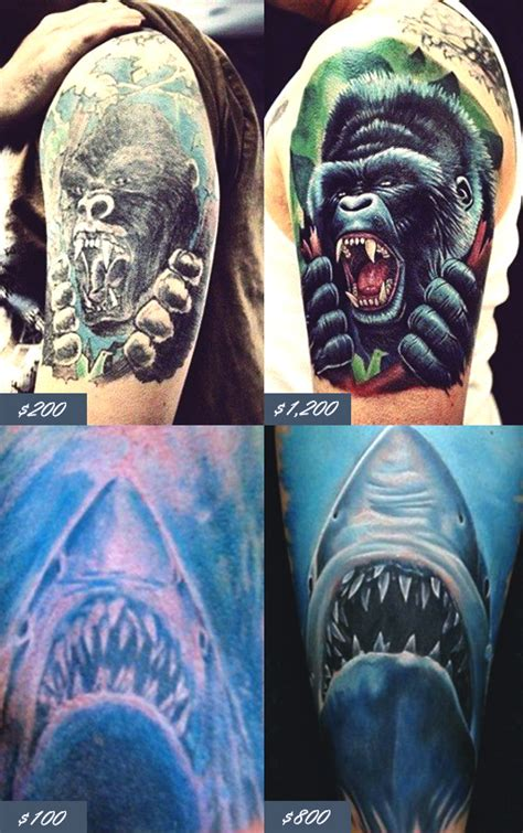 how much does a full sleeve tattoo cost how much do tattoos cost prices 101