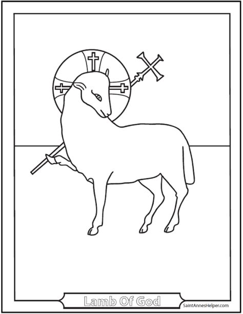 religious easter coloring pages lamb of god