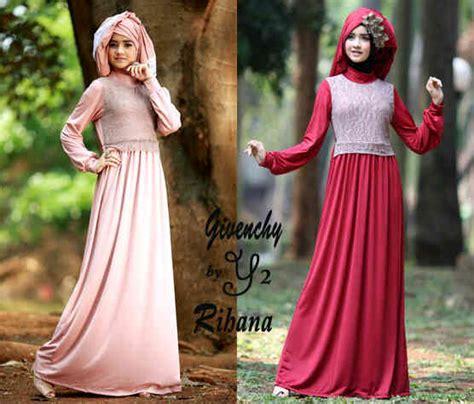 Baju Muslim Terusan Maxi Gamis Princess baju gamis rihanna gaun pesta muslim maxi dress