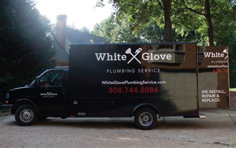 work truck layout white glove plumbing truck design randall branding agency