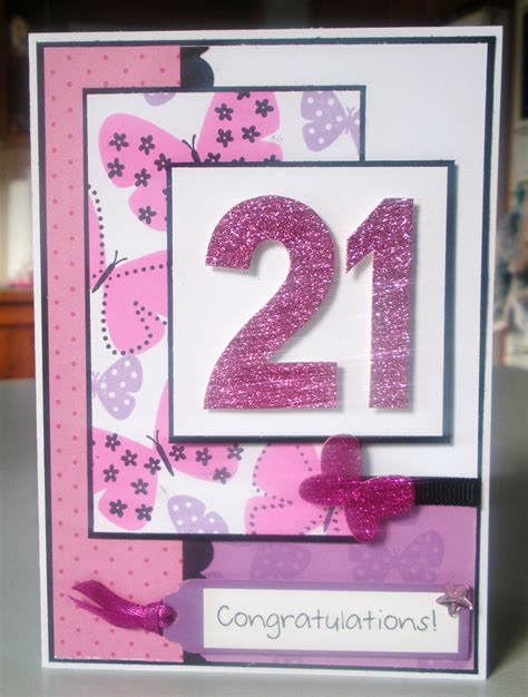 Handmade 21 Birthday Card - 21st birthday cards on birthday cards