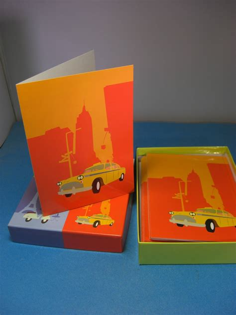 Marcel Schurman Cards - marcel schurman orange yellow stationery new york taxi