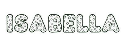 coloring isabella