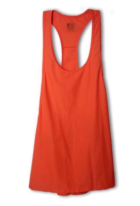 orange sports women s orange workout sport gym yoga tank top n10979