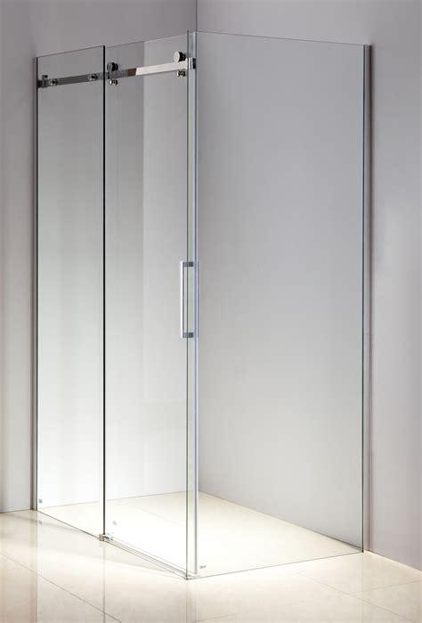 Diy Frameless Glass Shower Doors Shower Screen 1200x900x1950mm Frameless Glass Sliding Door By Della Diy Home Warehouse