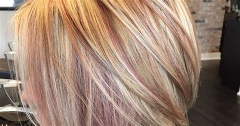 lowlights on total grey blonde rose gold highlights my work pinterest